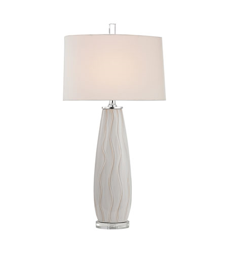 Table Lamps 1 Light With Washington White Ceramic Crystal Metal Medium Base 35 inch 150 Watts
