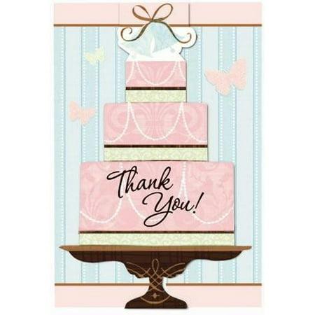 Bridal Shower Thank You Gifts (Bridal Shower 'Blushing Bride' Thank You Notes w/ Envelopes)