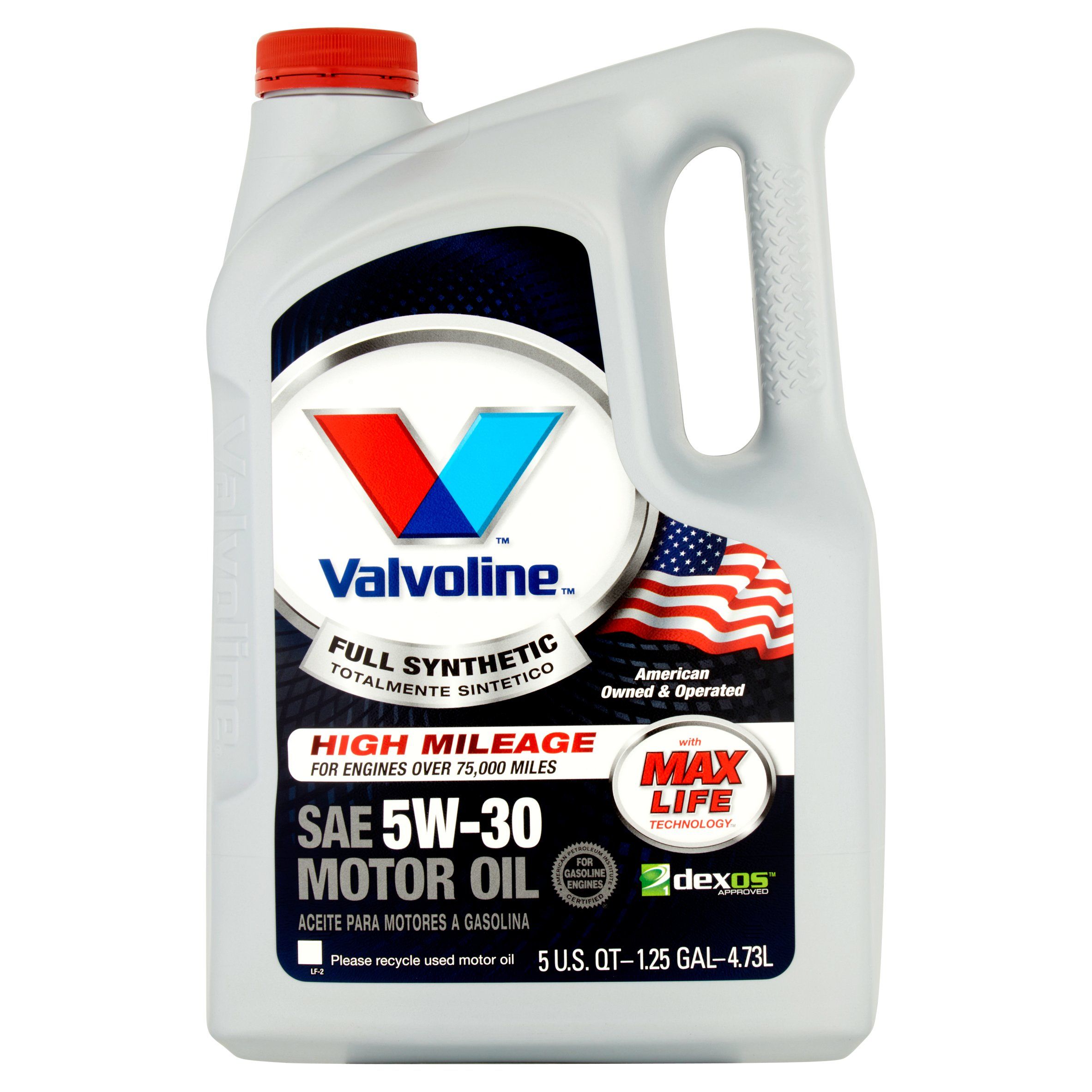 Valvoline Full Synthetic with Max Life Technology SAE 5W-30 Motor Oil 5qt