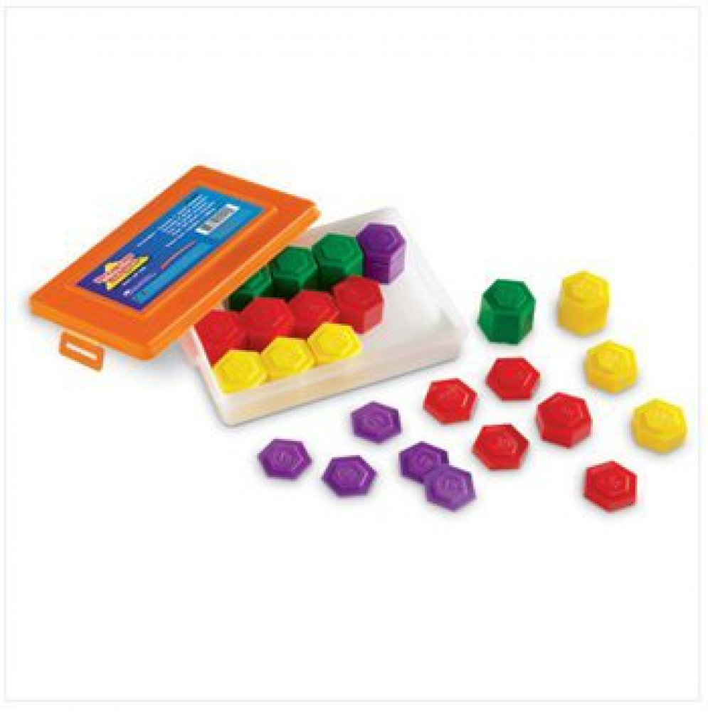 54 PIECE METRIC WEIGHT SET..., By Learning Resources Ship from US