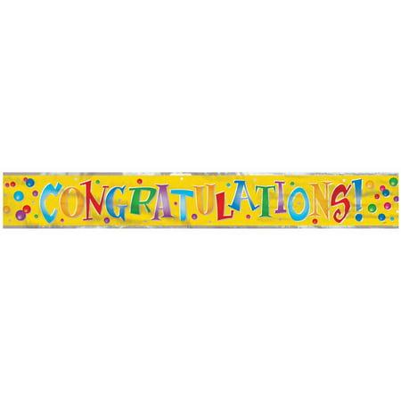 12ft Foil Congratulations - Congratulations Banner
