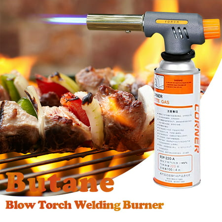 Butane Torch Blow Torch Welding Burner with 360 Degree Rotatable Design and Safety Lock for BBQ Creme Brulee Refillable Kitchen Outdoor Camping Chef Cooking Tool - image 1 de 1