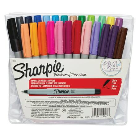 Sharpie Ultra Fine Point Marker Set of 24 (Fire Paint Set)