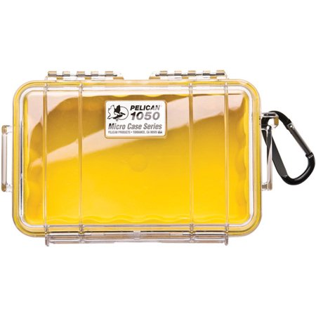 Pelican 1050 Micro Case, Yellow/Clear