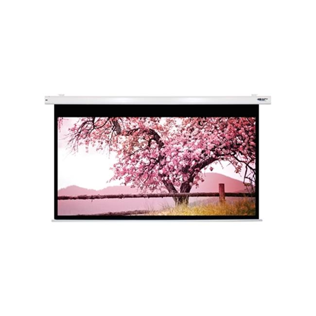 "HamiltonBuhl 110"" Diag. (54x96) Electric Projector Screen, HDTV Format, Matte White Fabric"