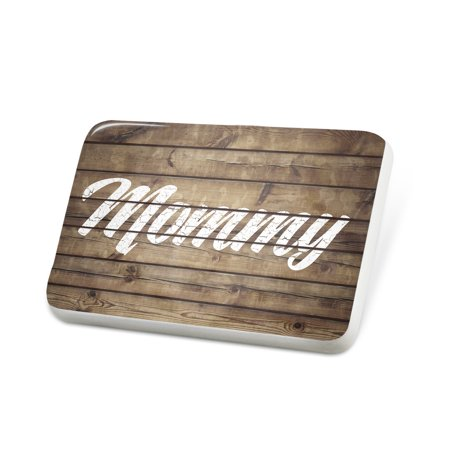 Porcelein Pin Painted Wood Mommy Lapel Badge – NEONBLOND
