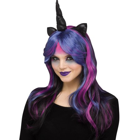 Dark Unicorn Halloween Costume Accessory Wig - Unicorn Rider Costume
