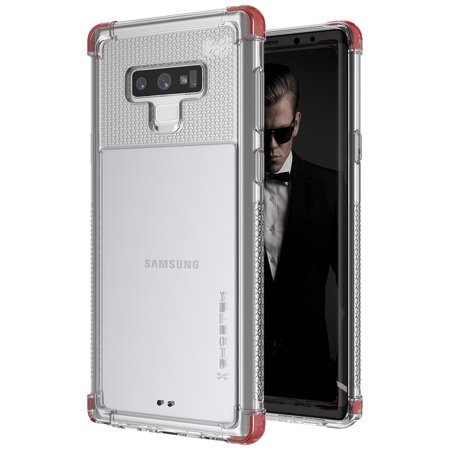 Samsung Galaxy Note 9 Clear Case - Ghostek Covert Series Ultra Slim Silicone Gel Cover - Supports Wireless Charging -