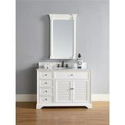 James Martin 238-104-V60S-CWH 60 in. Savannah Single Vanity Cabinet, Cottage White