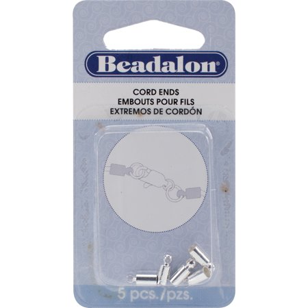 Cord Ends 5/Pkg-Silver-Plated - image 1 of 1
