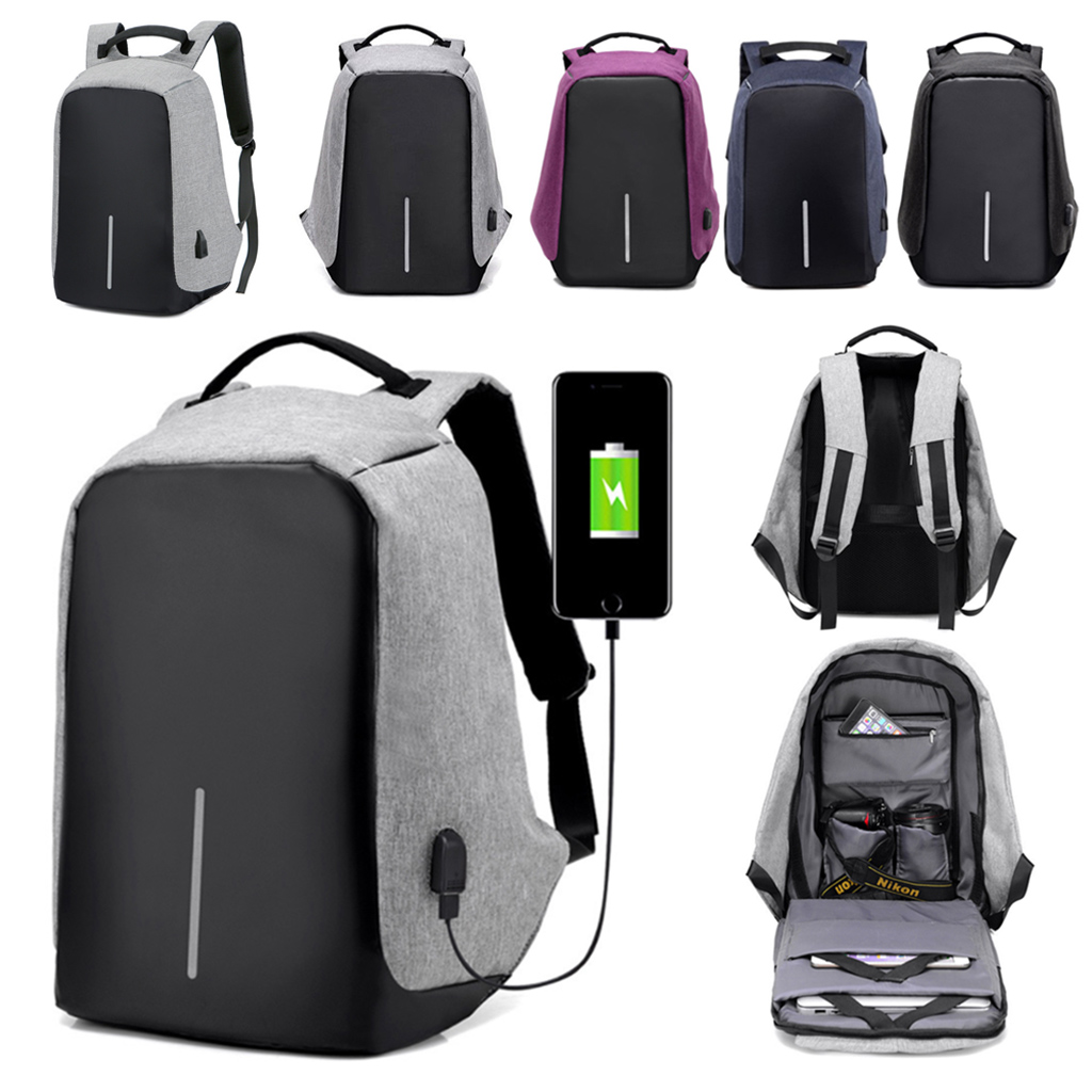 Spencer Anti-theft Laptop Backpack With USB Charging Port Large Capacity Travel College Bag