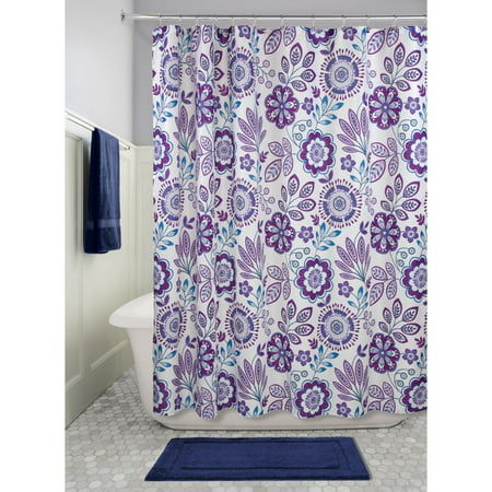 Lighting Luna Bath - InterDesign Luna Floral Fabric Shower Curtain, 72