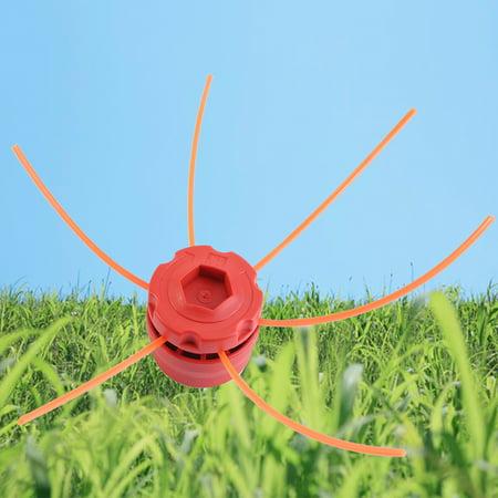 Yosoo Universal Plastic Strimmer Head Trimmer Heads String Set for Gasoline Grass Brush Cutter, Strimmer Heads, Trimmer