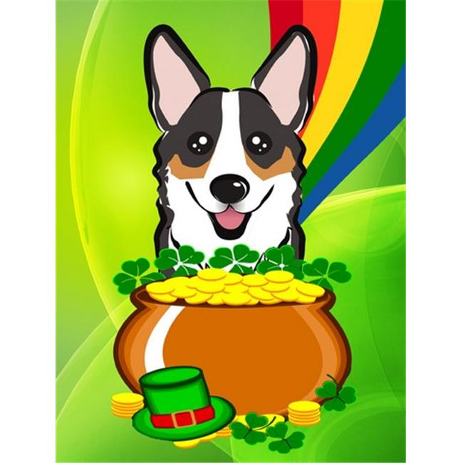 Carolines Treasures BB1999GF Tricolor Corgi St. Patricks Day Flag Garden - image 1 of 1