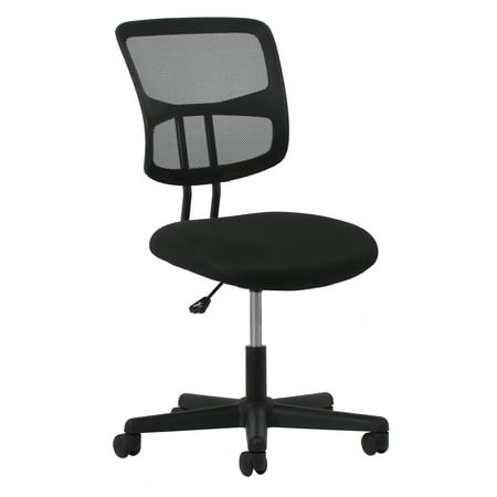 Essentials by OFM ESS-3020 Swivel Mesh Back Armless Task Chair, Black