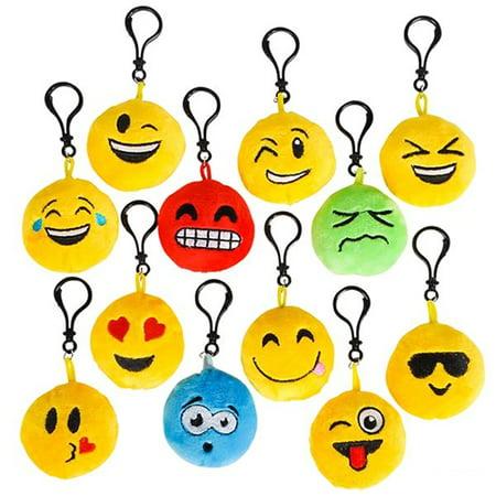 On Emoji (Emoji Clip On Keychain - 24 per)