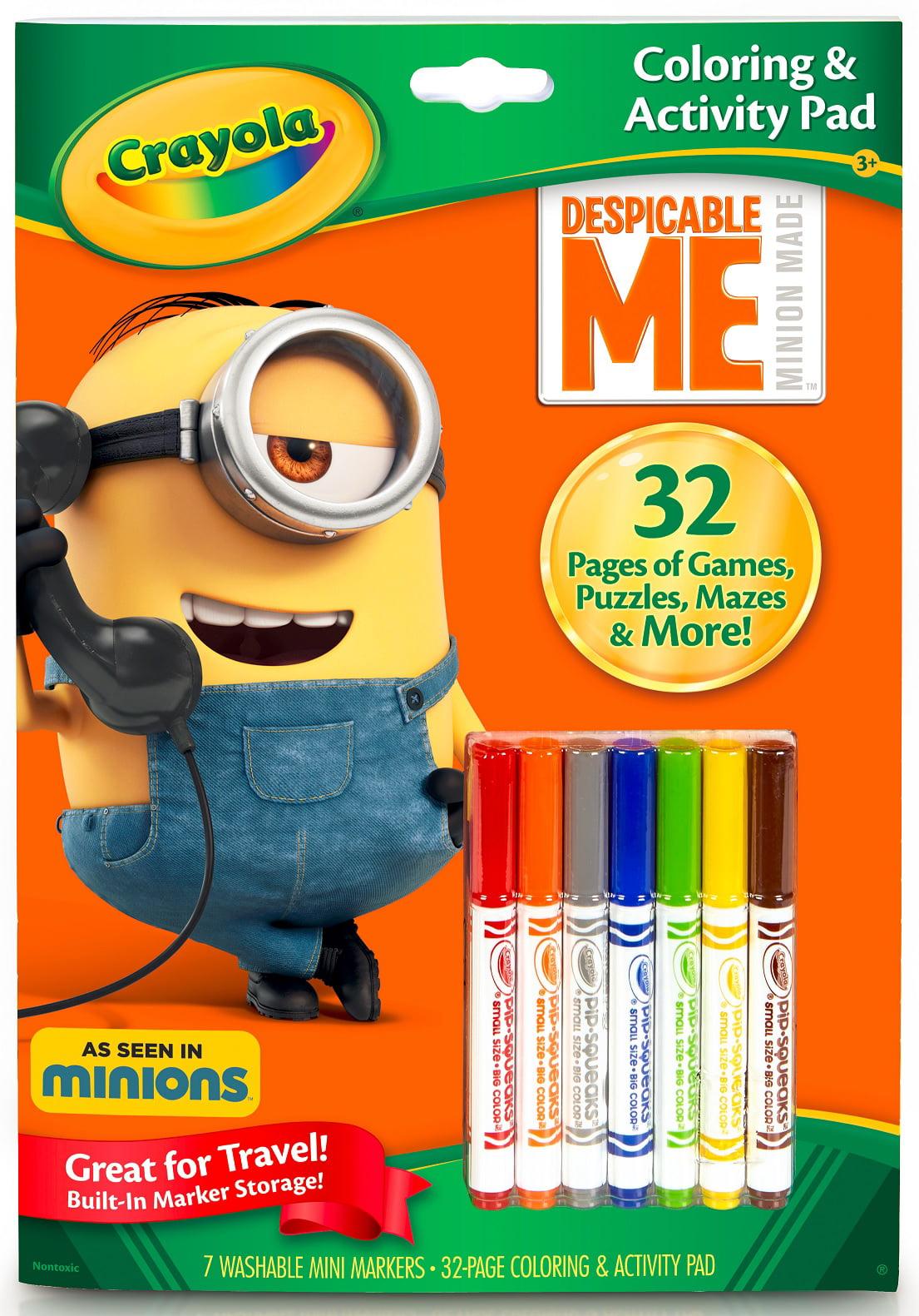Crayola Despicable Me Coloring & Activity Book, 32 Pages, 7 Markers by Crayola