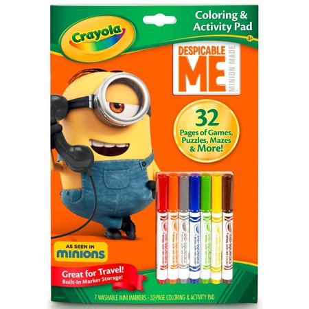 Crayola Despicable Me Coloring & Activity Book, 32 Pages, 7 Markers
