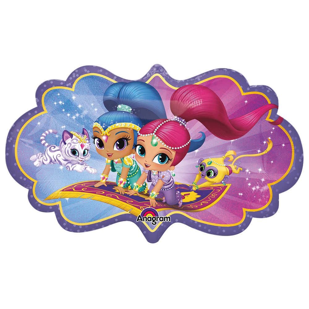"Shimmer And Shine 27"" Shape Balloon - Party Supplies - Walmart.com"