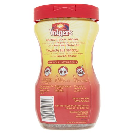 Folgers Instant Coffee Crystals Classic Roast 80 OZ