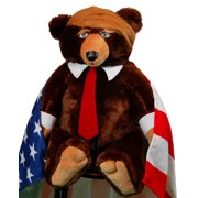Trumpy Bear super plush bear with Flag-Themed blanket and Certificate of Authenticity. As Seen On TV