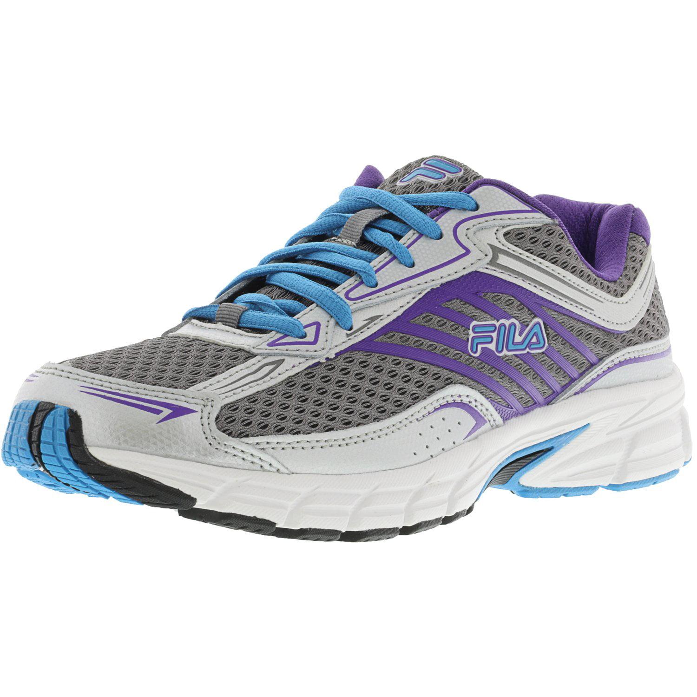 Fila Women's Xtenuate Dark Silver   Metallic Atomic Blue Ankle-High Running Shoe 8.5M by Fila