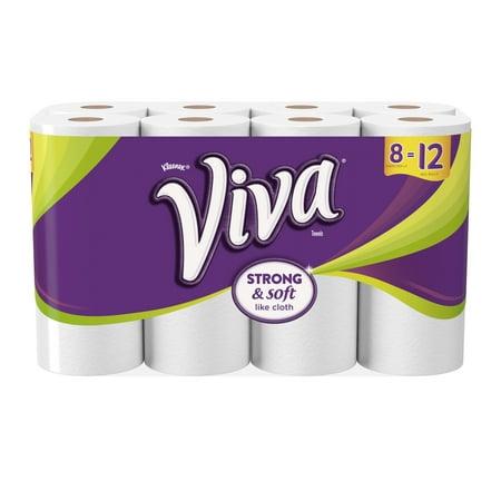 Viva Paper Towels  Full Sheet  White  8 Giant Rolls