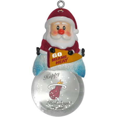 Topperscot by Boelter Brands NBA Santa Snow Globe Ornament, Miami Heat