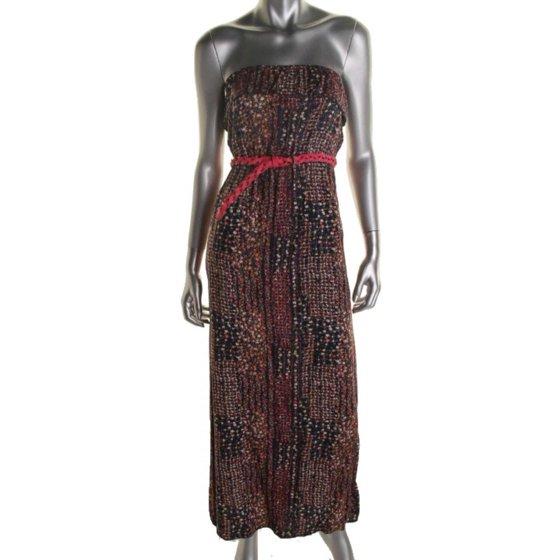 34c1e7c8848 Trixxi - Trixxi Womens Juniors Strapless Printed Maxi Dress ...