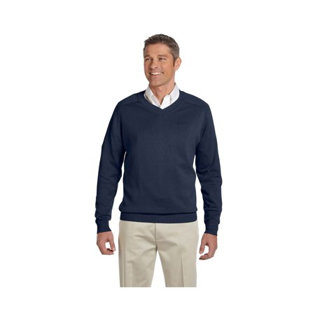 Mens Classic V-neck Sweater - Devon & Jones Classic Men's V-Neck Sweater, Style D475