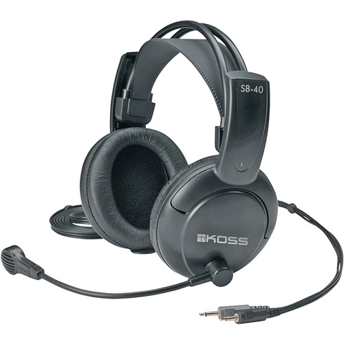 Koss SB40 20Hz Stereophone Padded Headband with Microphone