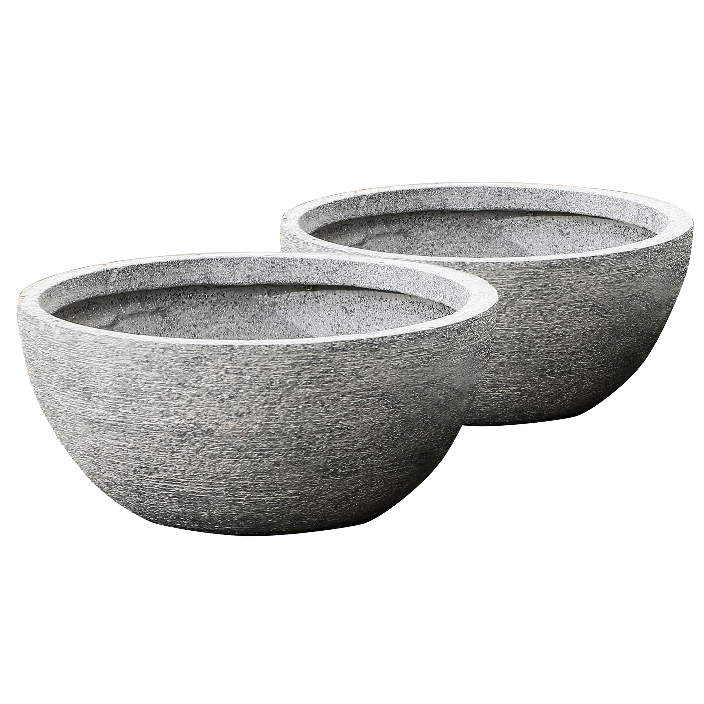 Winsome House Set of 2 Round Bowl Planters