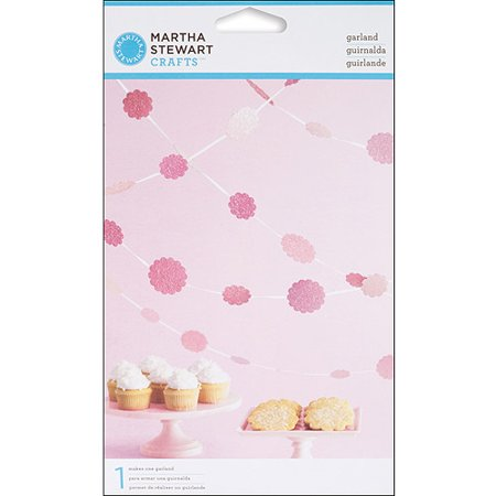 Martha Stewart Crafts Vintage Girl Glittered Dot Garland Kit, Pink