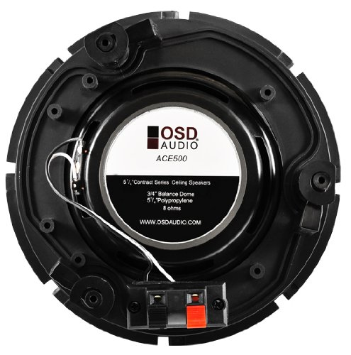 Osd Audio ACE500 5.25 In Ceiling Speaker With Poly Woofer; 3/4 Polyimide Twe