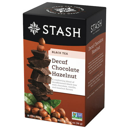 Stash Tea Decaf Chocolate Hazelnut Tea, 18 Ct, 1.2