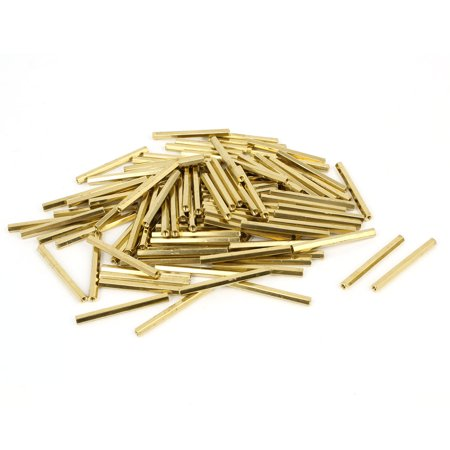 Net Nuts - 100 Pcs M2 32mm Hexagonal Net Nut Female Brass Standoff Spacer for CCTV Camera
