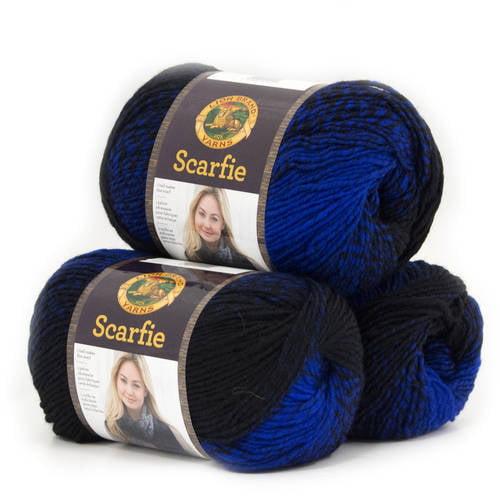 Lion Brand Yarn Scarfie Wool Acrylic Fashion Yarn, 3-Pack
