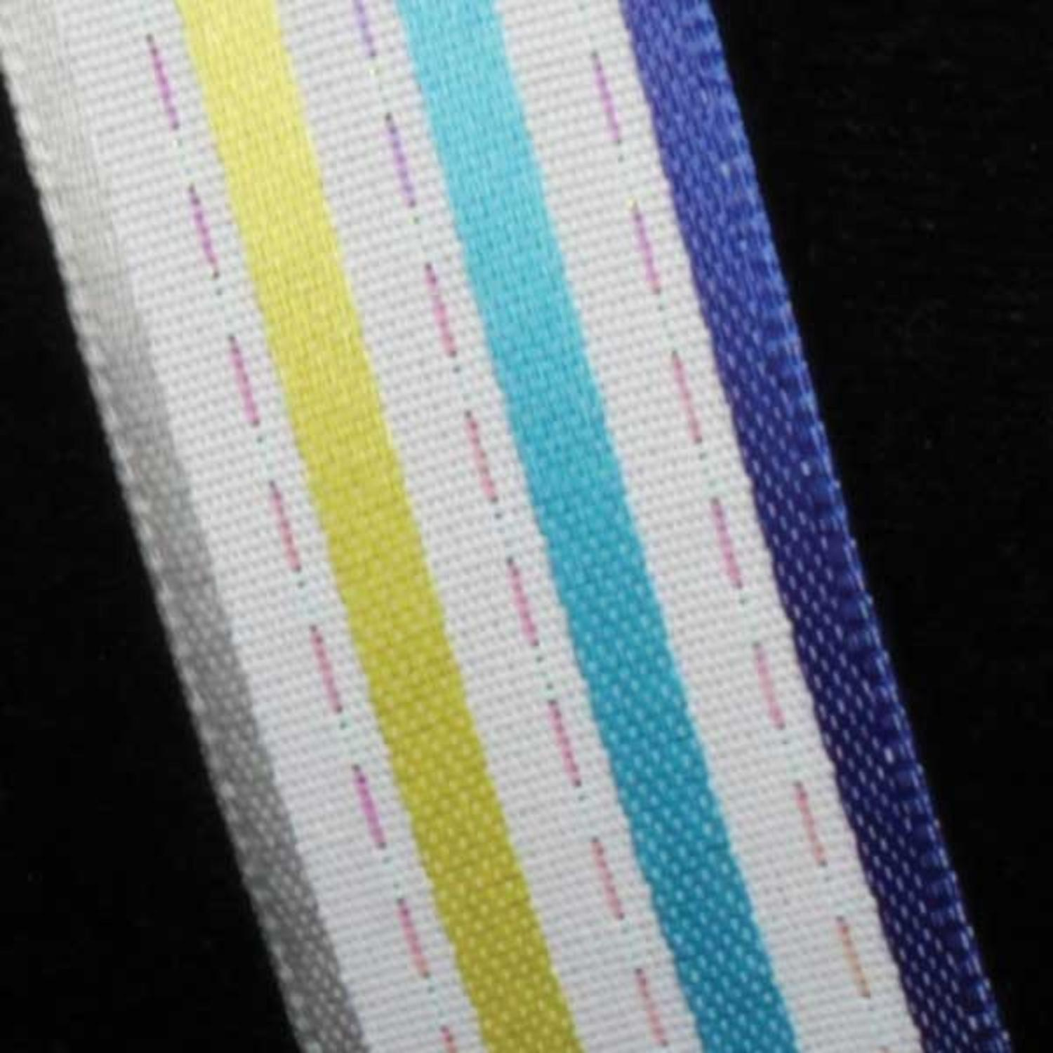 """Stripes and Dashes Blue and Gray Thin Striped Wired Craft Ribbon 7/8"""" x 54 Yards"""