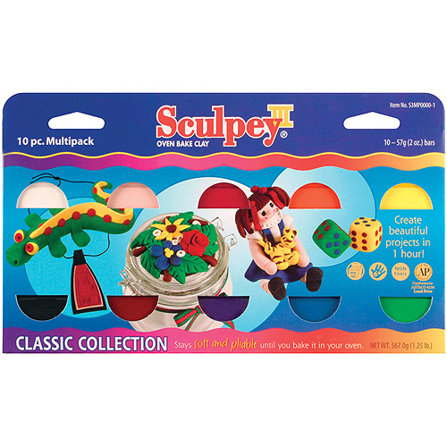Sculpey III Polymer Clay Classic Collection, 10-Pack