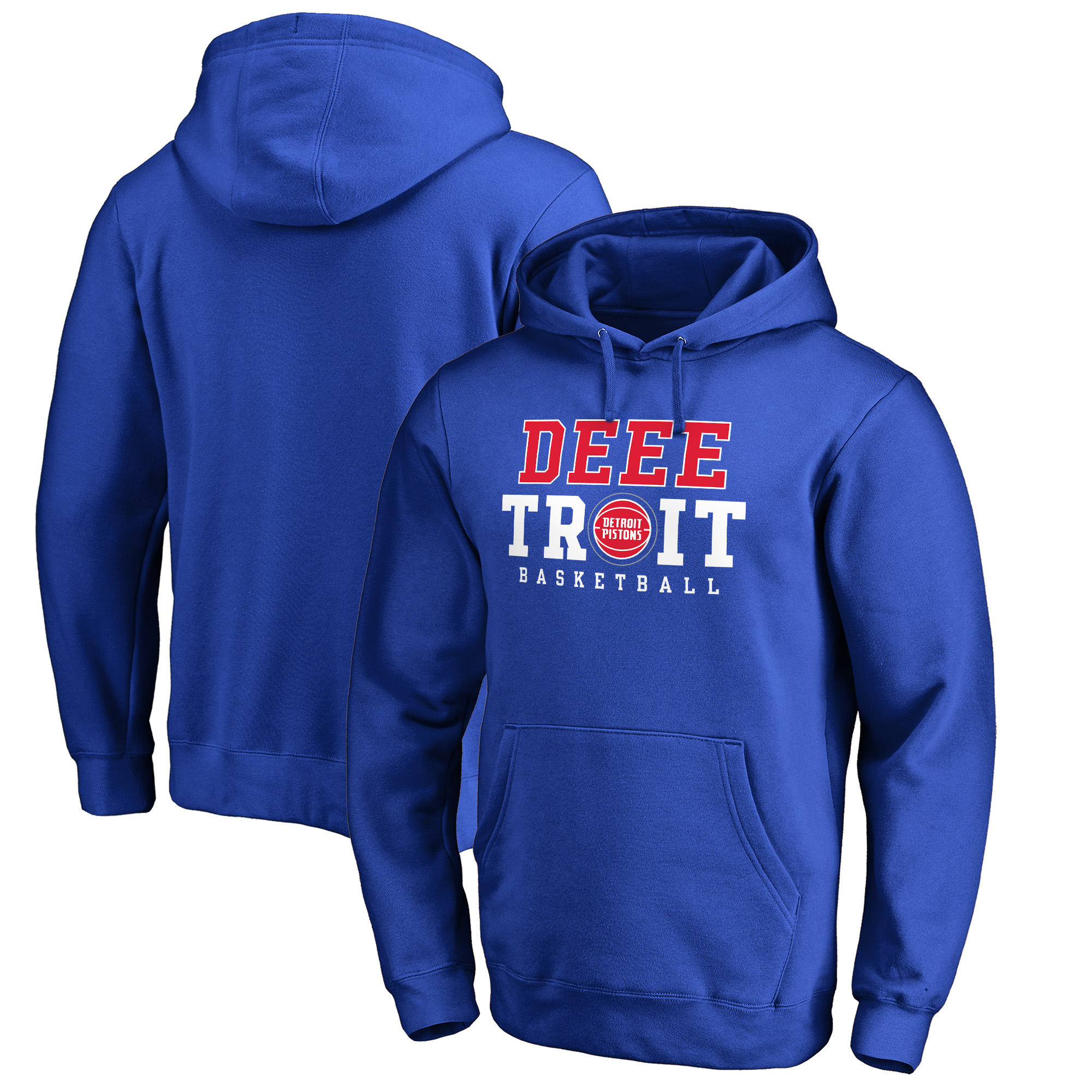 Detroit Pistons Fanatics Branded Deeetroit Hometown Collection Pullover Hoodie - Royal