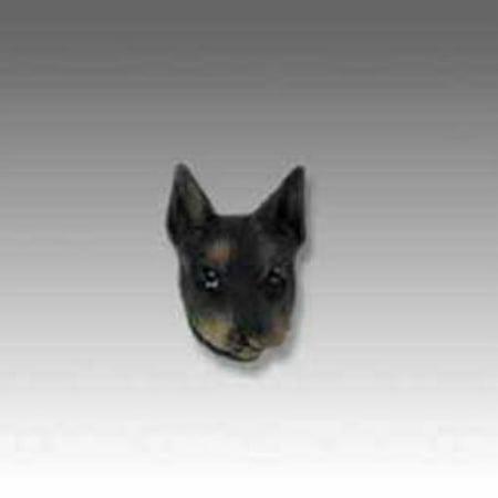 No.Dh25A Doberman Pinscher Black W/Cropped Ears Tiny One Head (Doberman Pinscher Head)