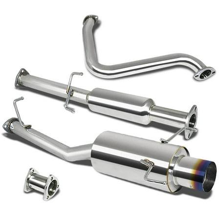 "Honda Prelude Catback Exhaust System 4"" Burn Tip Muffler - BB6 H22A4"