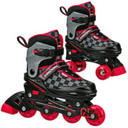 Roller Derby 2N1 Boys Inline and Quad Skate Combo with adjustable sizing