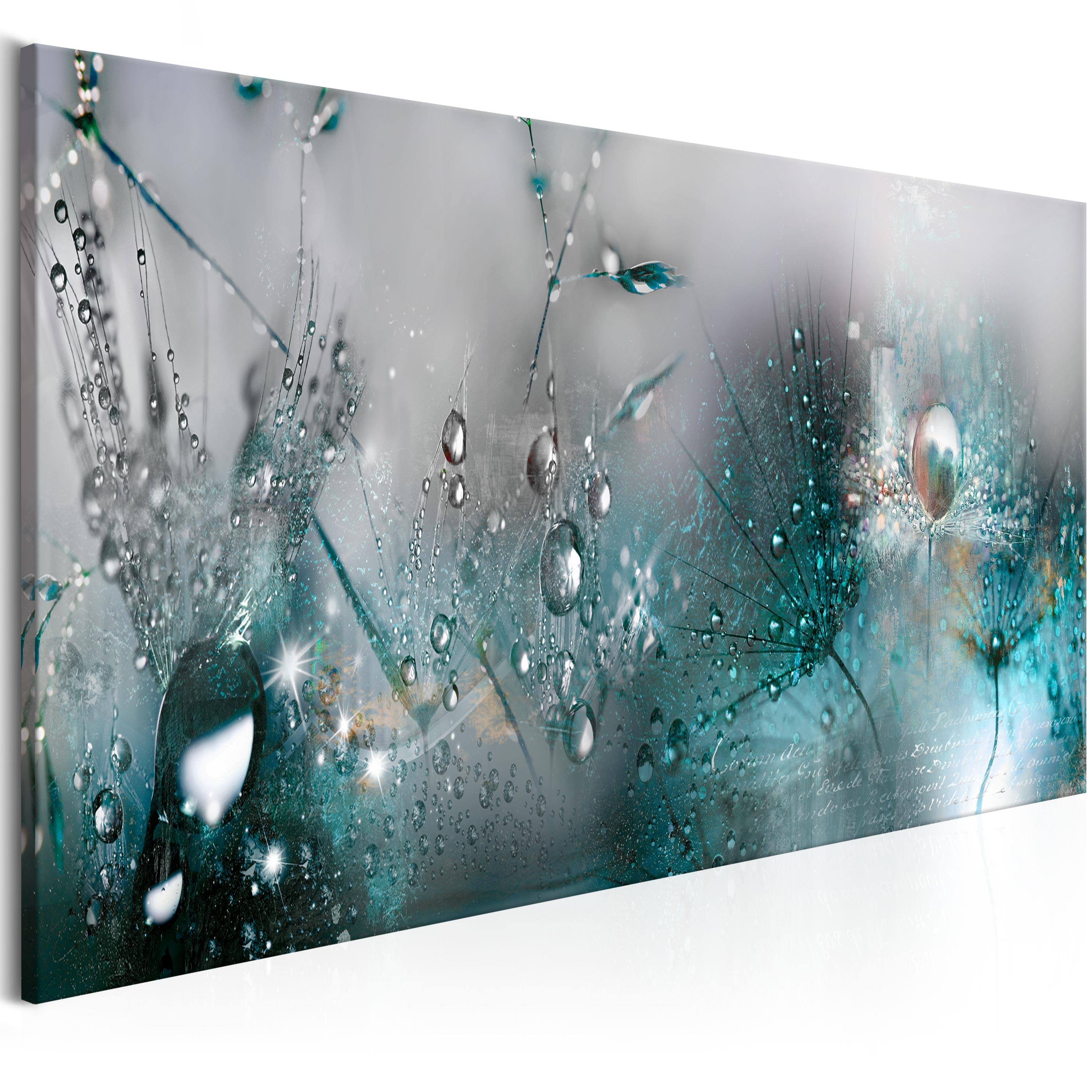 Angel In The Woods Teal Wall Picture Canvas Art Cheap Print