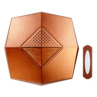 """Heath Zenith SL-7305-03 Copper 5-3/8"""" Wide Wireless Door Chime And Unlighted Push Button"""