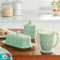 The Pioneer Woman Timeless Beauty 3-Piece Sugar Bowl, Creamer & Butter Dish Set