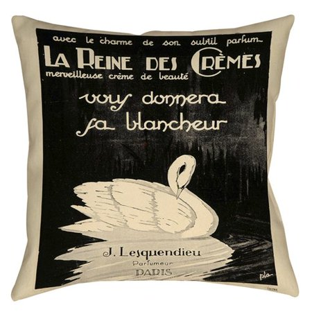 Manual Woodworkers Weavers Swan Cremes Printed Throw Pillow