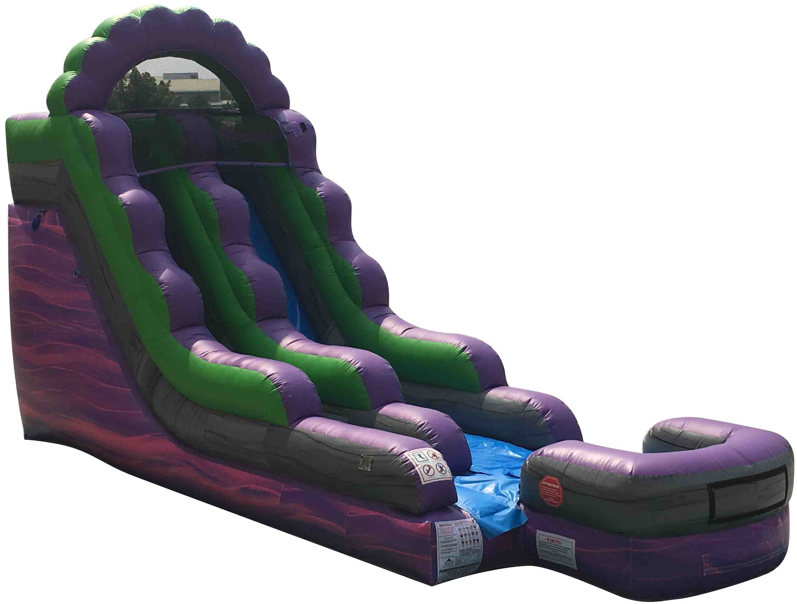 Pogo 15' Purple Marble Commercial Kids Jumper Inflatable Waterslide with Blower by Pogo Bounce House