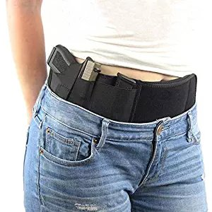 Concealed carry Waistband Belly Gun Holster for semi-auto or revolver