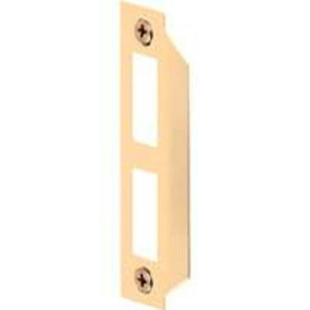 Prime-Line Door Strike Mortise Bit Lock Brass Plated